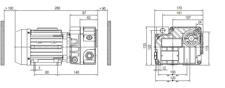 Габаритный чертеж насоса DVP LB.6_220