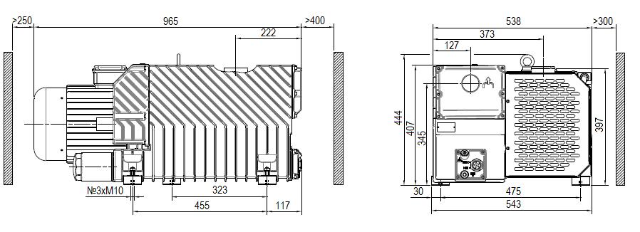 Габаритный чертеж насоса DVP LC.305
