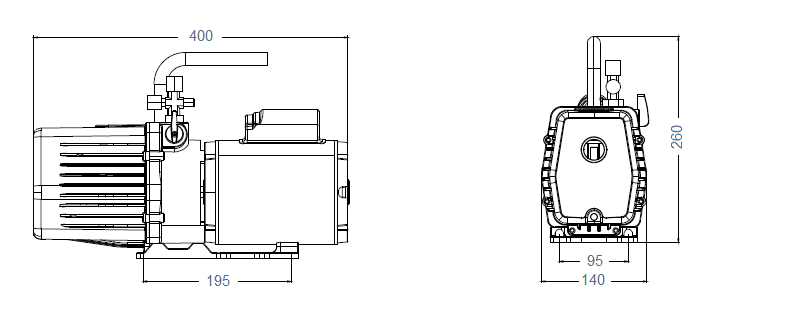 Габаритный чертеж насоса AirVac AHV-6