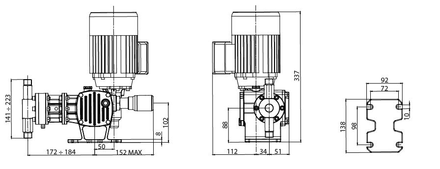 Габаритный чертеж насоса ST-P AP0011BA00100