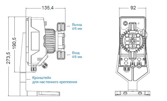 Габаритный чертеж насоса Seko Kompact AMS200