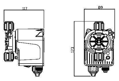 Габаритный чертеж насоса Seko Invikta KCL631