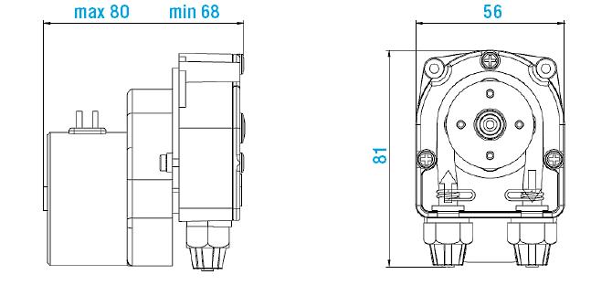 Габаритный чертеж насоса Etatron F PER 0501