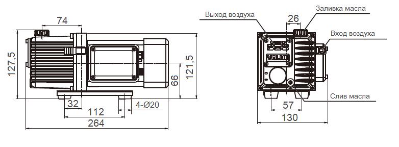 Габаритный чертеж насоса VSV-4_220