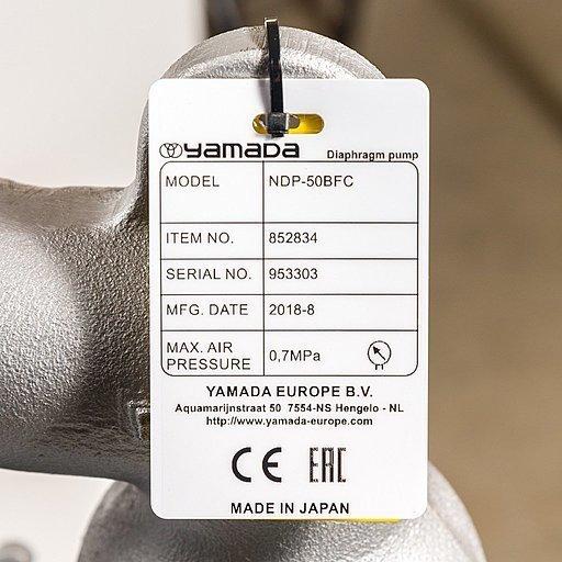 Шильдик модели Yamada NDP-50BFC