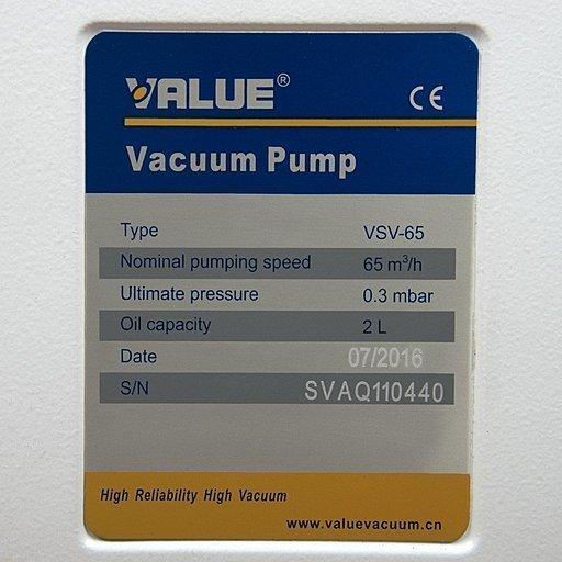 Пластинчато-роторный вакуумный насос Value VSV-065