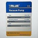 Шильдик насоса Value VSV-100