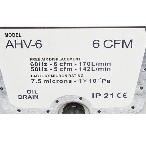 Шильдик двухступенчатого пластинчато-роторного вакуумного насоса AirVac AHV-6