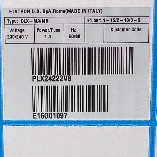 Кодовая маркировка насосов Etatron DLX MA/MB 01-15
