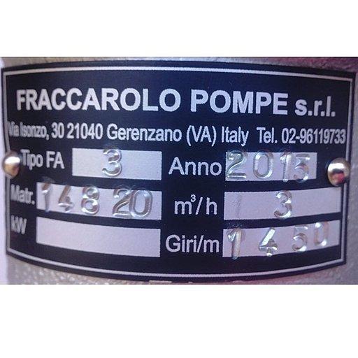 Шестеренный насос для горячих сред Fraccarolo FAM/3