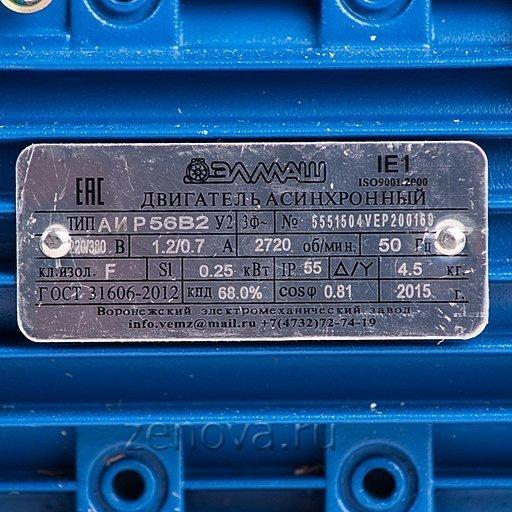 Насос Кристалл ХЦМ 1/10: шильдик двигателя