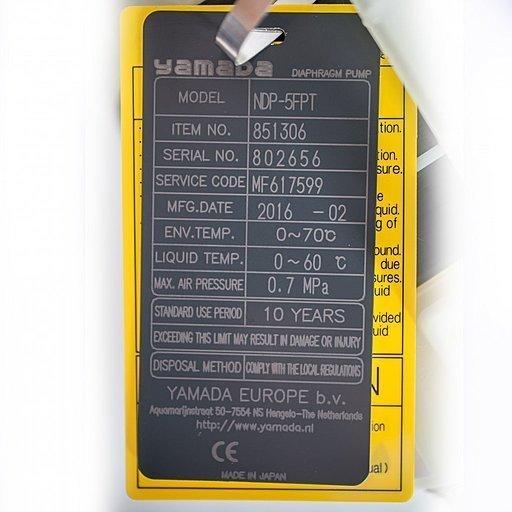 Шильдик модели Yamada NDP-5FPT