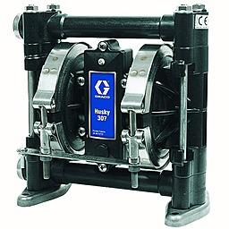 Мембранный пневматический насос Graco HUSKY 307-AC-AC-PTFE-PTFE