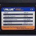 Шильдик вакуумного насоса Value VSV-10_220