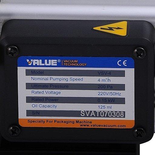 Шильдик вакуумного насоса Value VSV-4_220